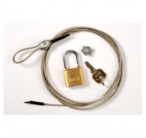 Minox Security cable with padlock